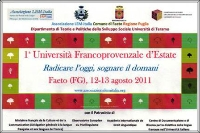 Prima Università Francoprovenzale d'Estate.